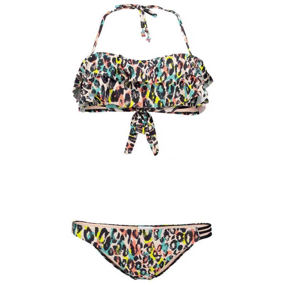 Pw Pineapplefest Ruffle Bikini Leopard