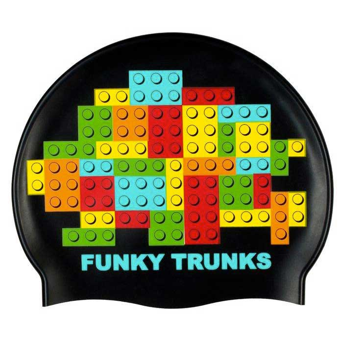 Funky trunks Block Party Silicone Swimming Cap