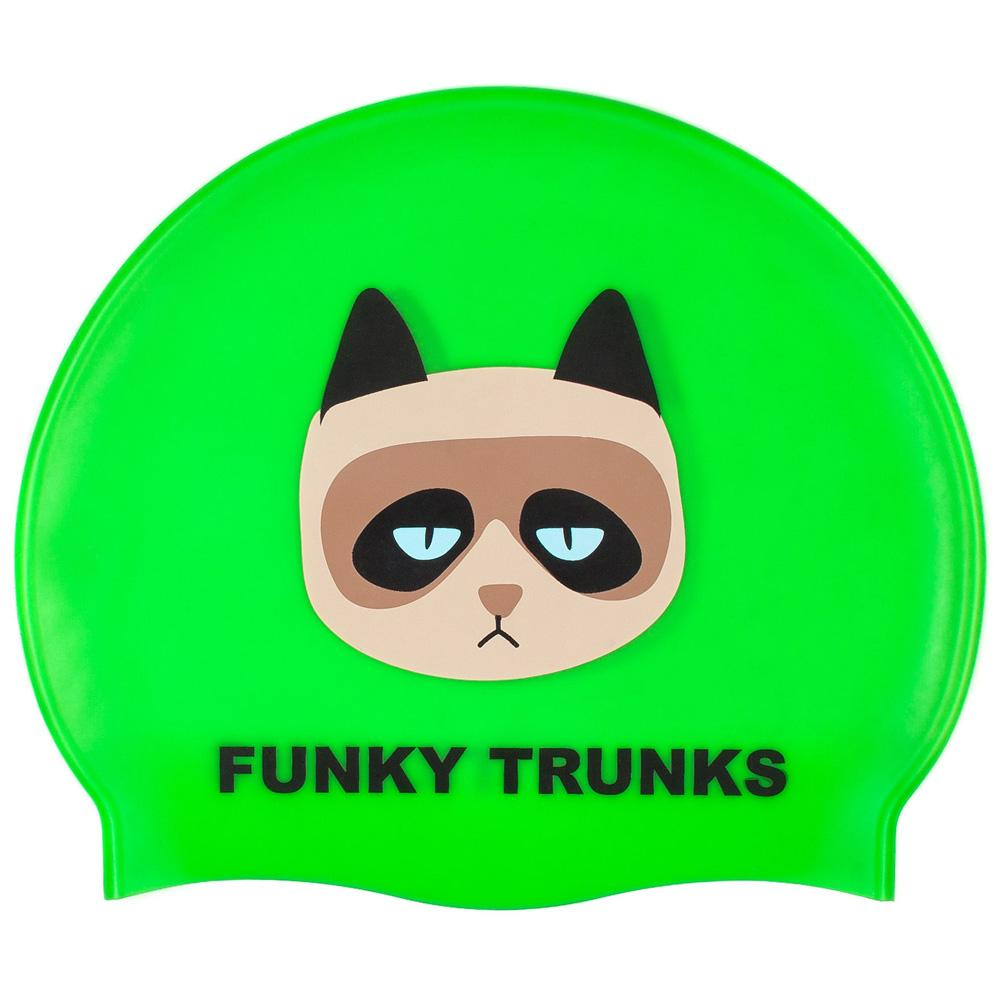 Funky trunks Grumpy Cat Silicone Swimming Cap