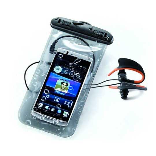 Fundas y carcasas Ksix Universal Waterproof Pack Case + Headphones