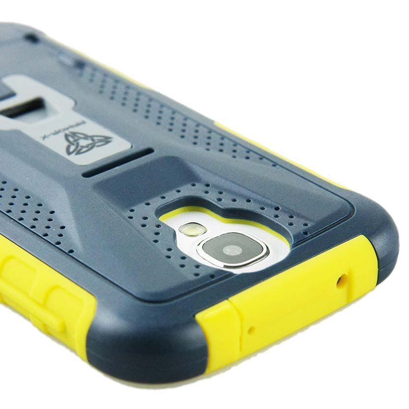 Armor X Cases Rugged Case Kickstand Clip For Samsung Galaxy S4 Black