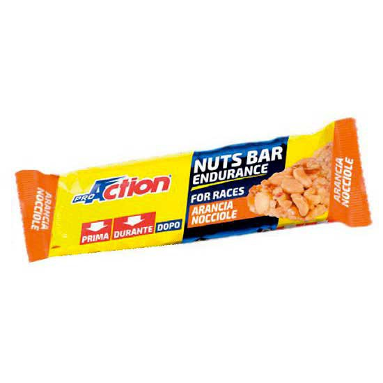 Pro action Nuts Bar Orange Hazelnut 30gr x 25 Units