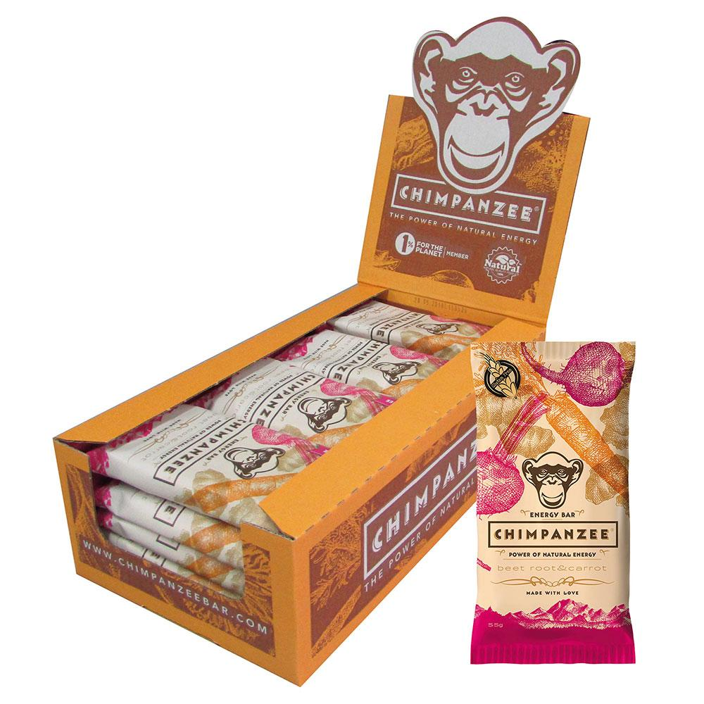 Chimpanzee Energy Bar Beet Root & Carrot 55gr Box 20 Units