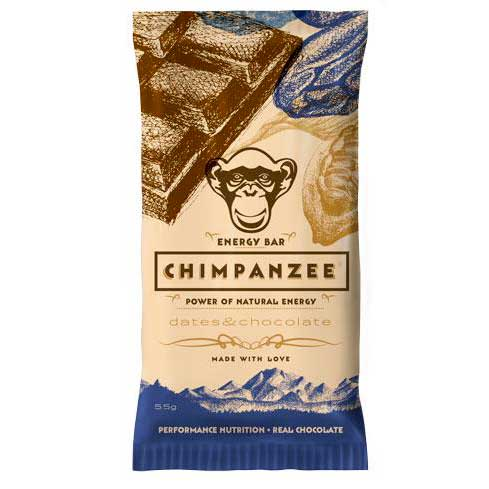 Chimpanzee Energy Bar Dates Y Chocolate 55gr Caja 20 Unidades