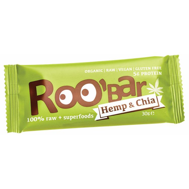 Roo´bar Raw Energy Bar Hemp Protein And Chia 30gr