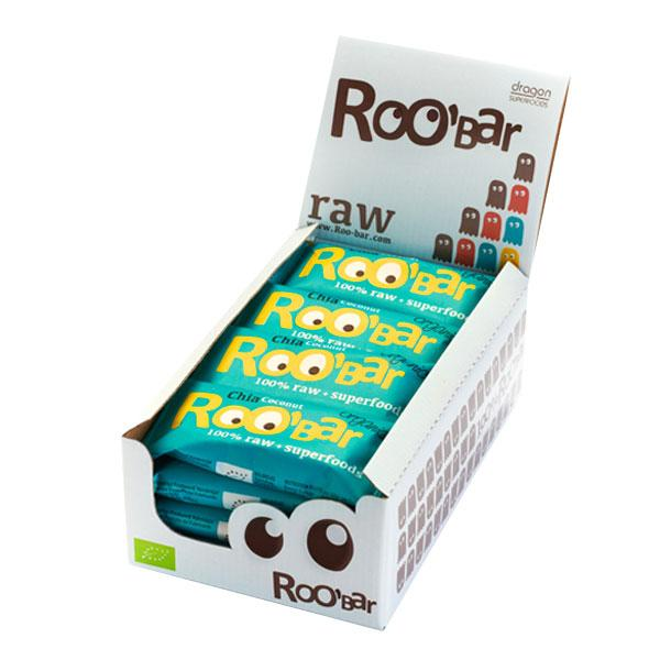Roo´bar Raw Energy Bar Chia And Coconut 50 G X 16