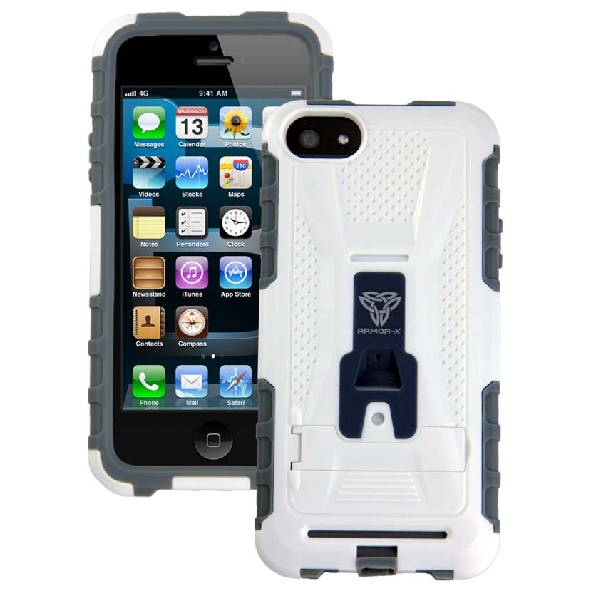 Armor X Cases Rugged Case For Iphone 5 With Kickstand
