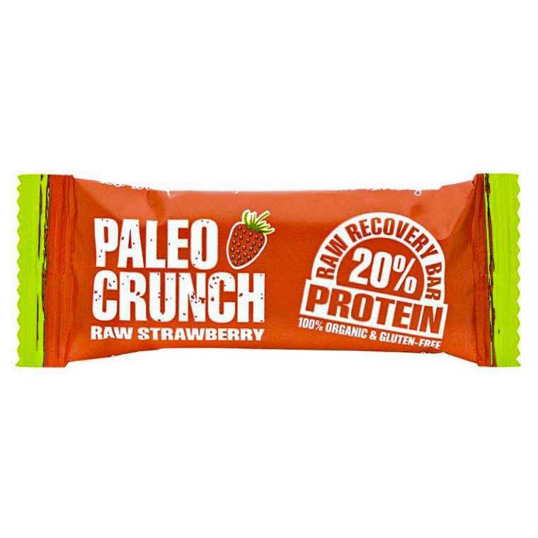 Barritas Paleo-crunch Bar Raw Fresa Protein Bar 48gr X 12 Unidades