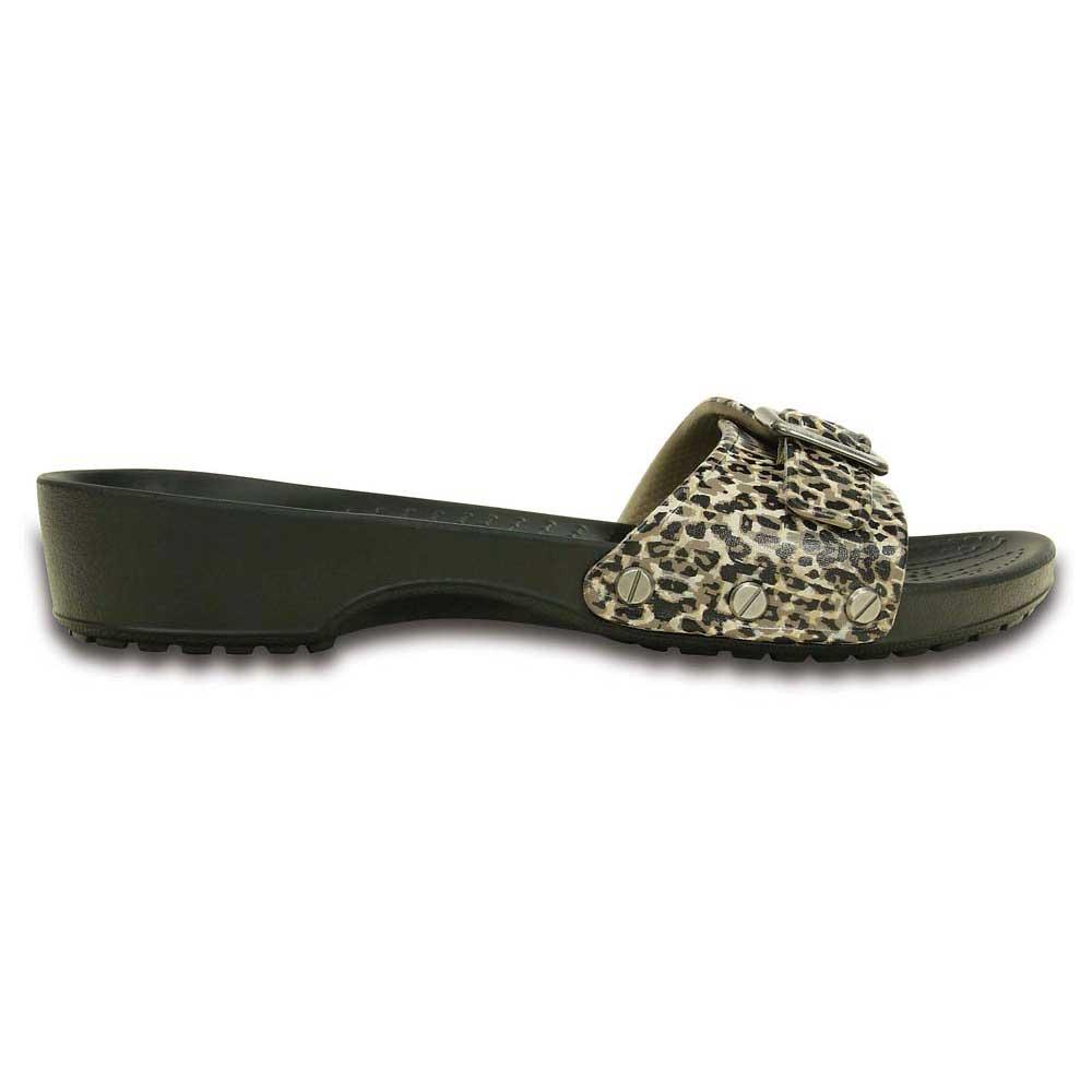 aa0265fda53c Crocs Sarah Leopard Sandal Black buy and offers on Swiminn