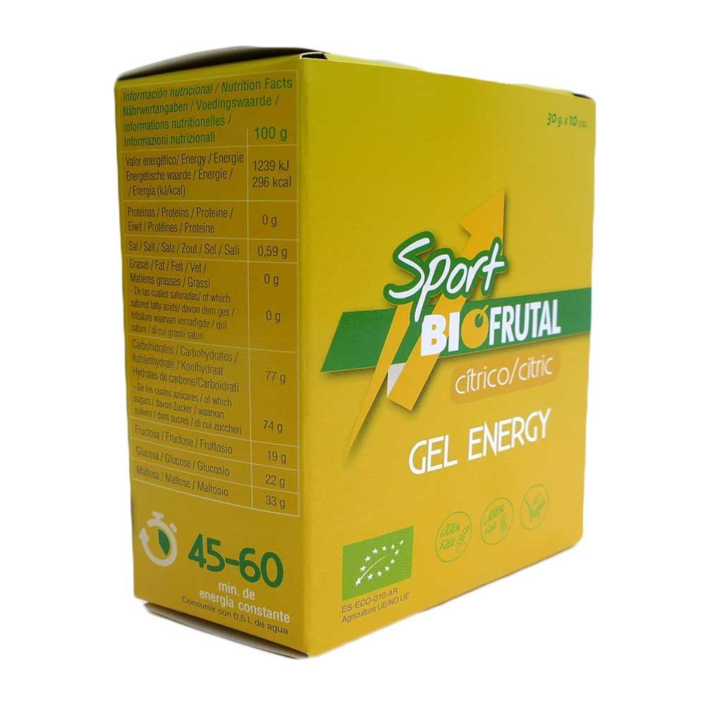 Cremas y geles Biofrutal Gel Energy Citric 30gr X 10 Unidades