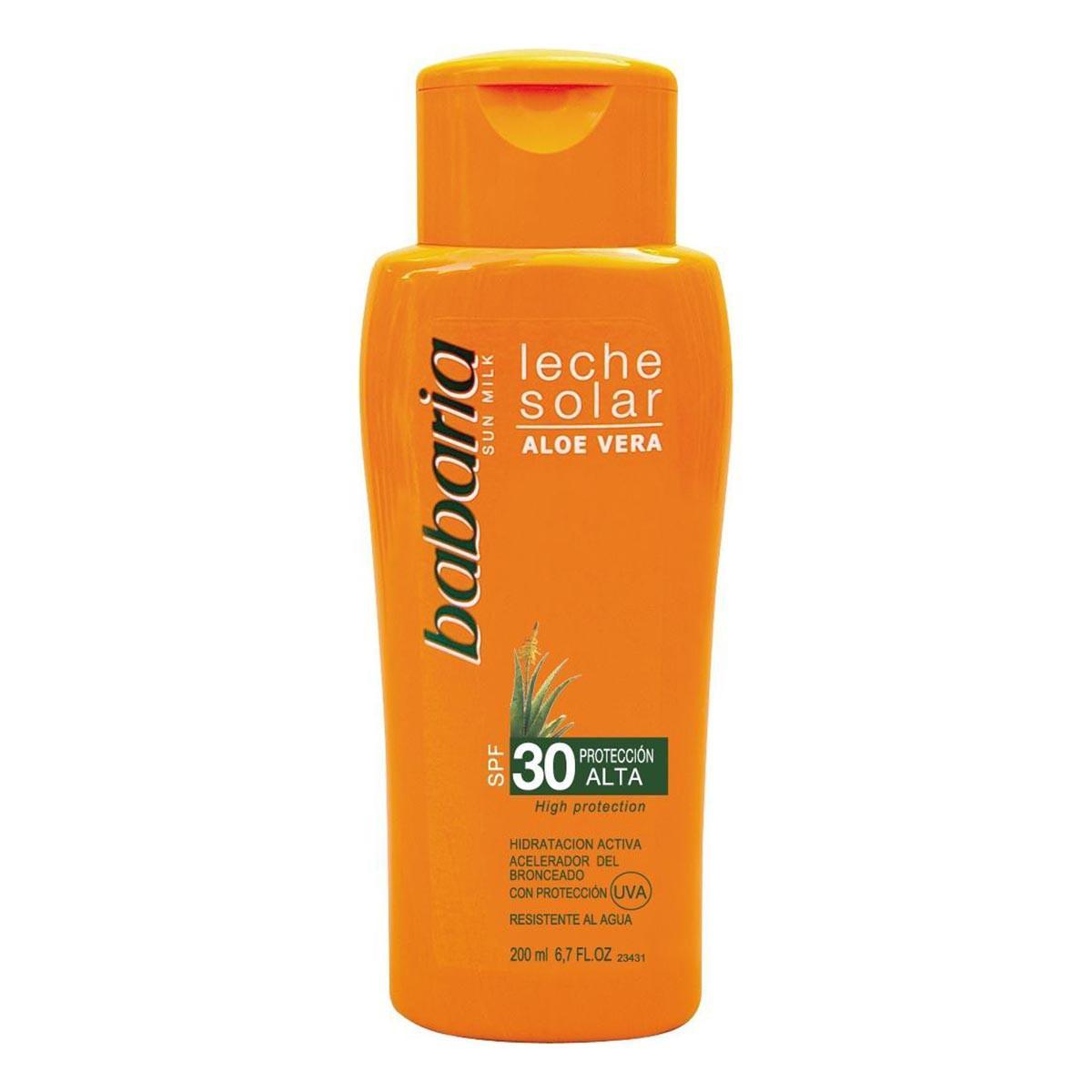 Babaria Aloe Vera Solar Milk Spf30 High Protection 200 Ml