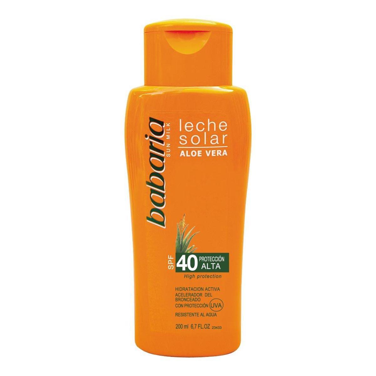 Babaria Aloe Vera Solar Milk Spf40 High Protection 200 Ml