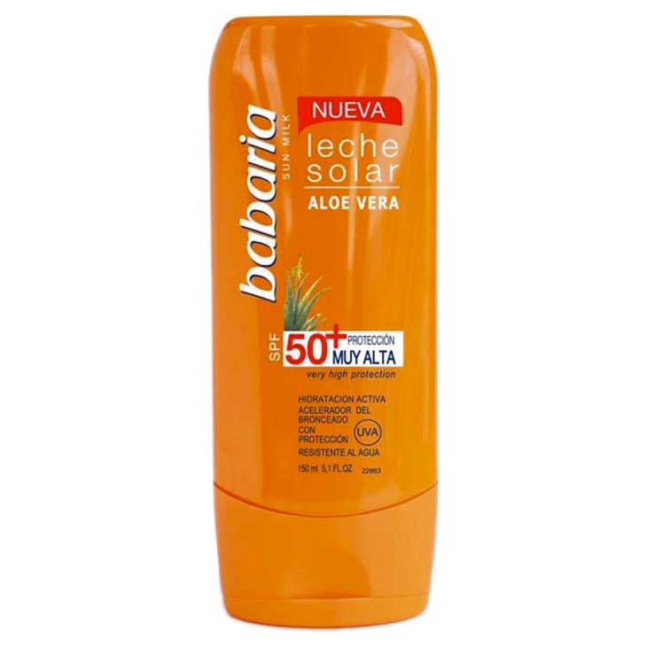 Babaria-fragrances Solar Milk Aloe Vera Spf50 150ml