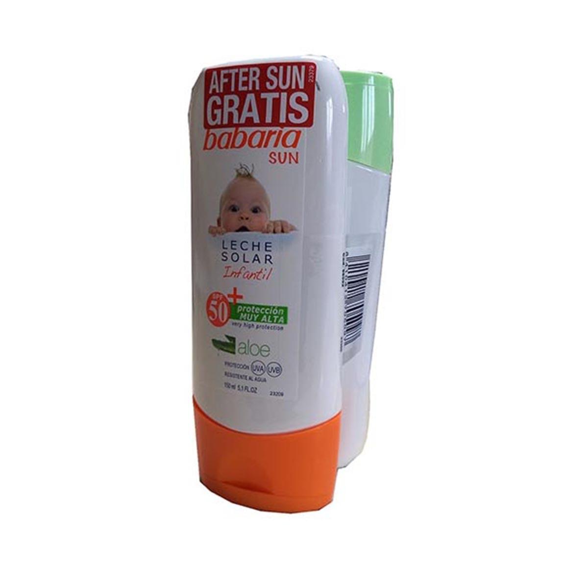 Babaria-fragrances Barbaria Children Sun Milk Spf50 150ml After Sun 150ml