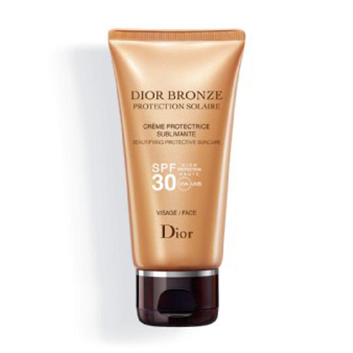 Christian-dior Bronze Protective Creme Sublime Glow Face Spf30 50 Ml