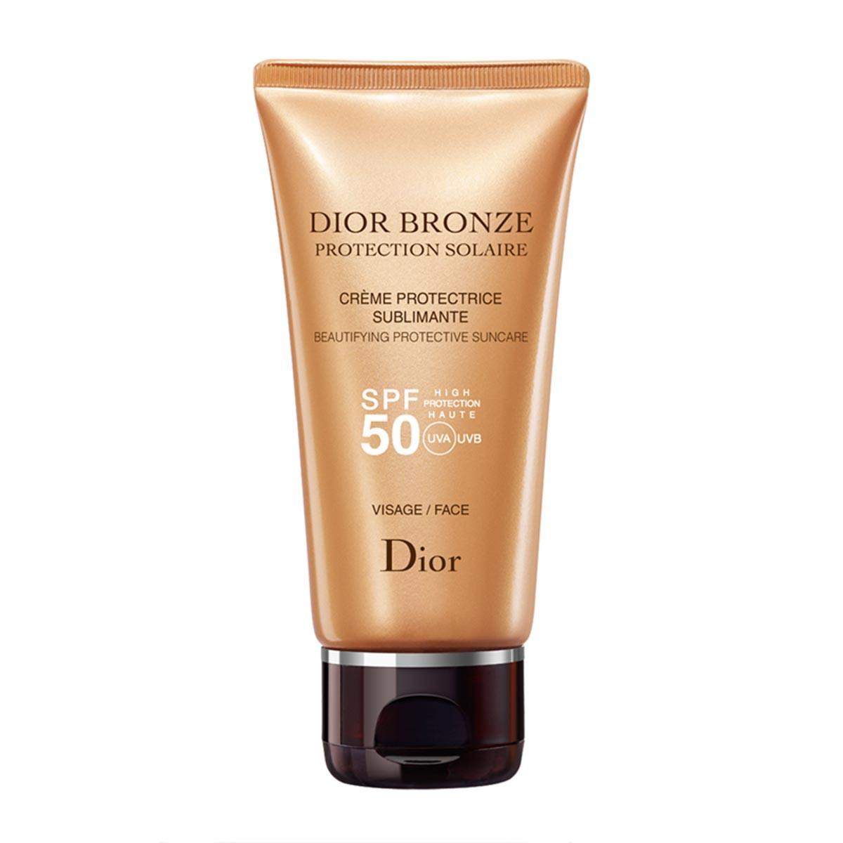 Christian-dior Bronze Protective Creme Sublime Glow Face Spf50 50 Ml