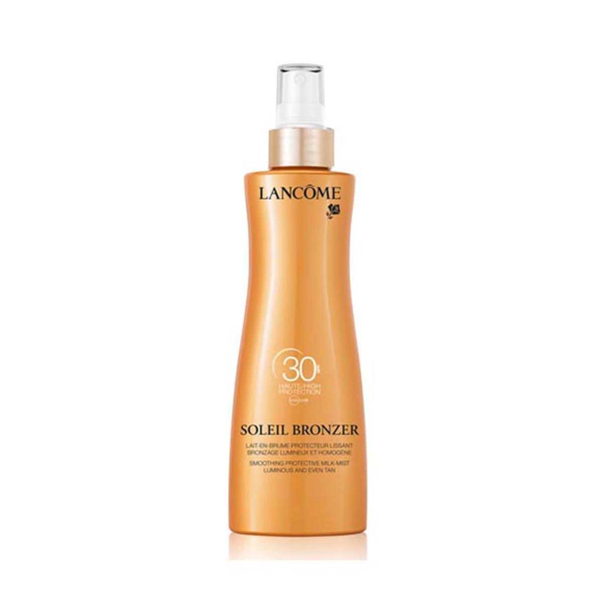 Lancome-fragrances Soleil Bronzer Spf30 Smoothing Protective Milk Mist Musk Rose Oils 200ml