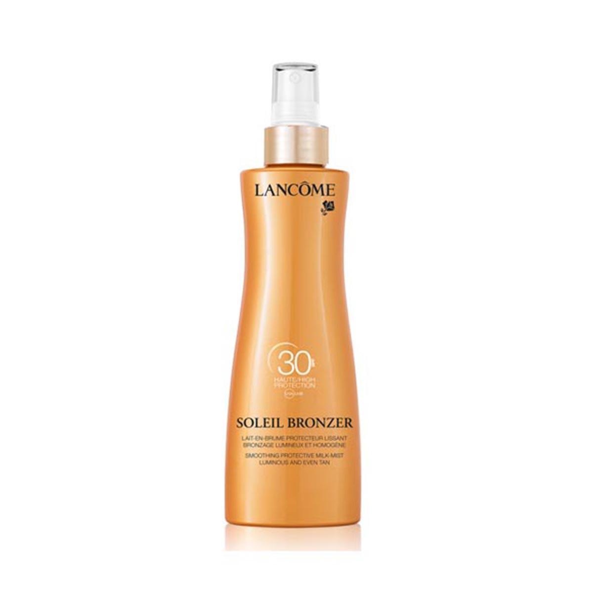 Lancome Soleil Bronzer Spf30 Smoothing Protective Milk Mist Musk Rose Oils 200 Ml