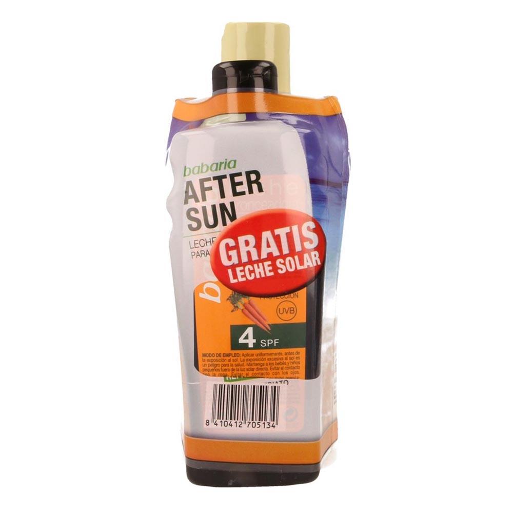Babaria Babaria After Sun Aloe Vera 400ml Leche Solar Zanahoria Spf4 200ml Gratis