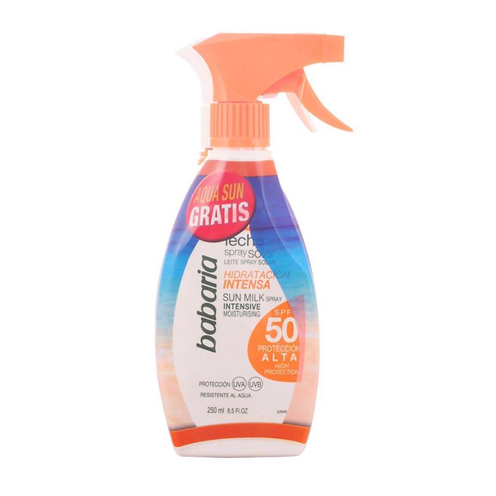 Babaria Babaria Leche Solar Spf50 Spray 250ml Aloe Vera Aqua Sun Spf15 300ml Gratis