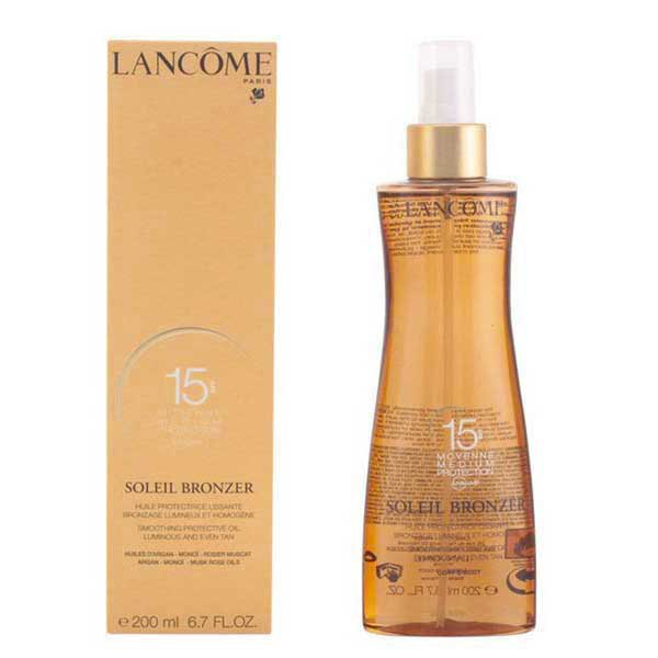 Lancome Soleil Bronzer Spf15 Smoothing Protective Musk Rose Oils 200 Ml