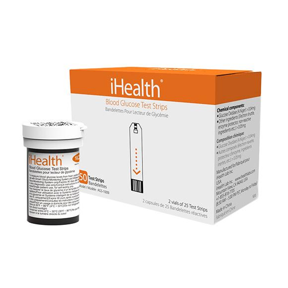 Ihealth Box 50 Reagent Strips Compatible With iHealth Glucometers