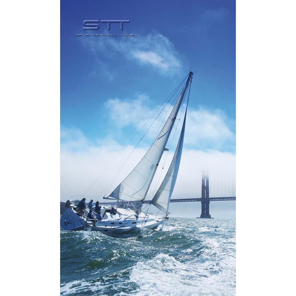 Toallas Stt-sport Crazy Towel Nautical Sailboat Terry Loop