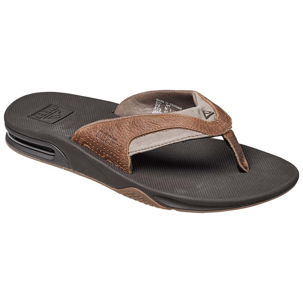 9d33cf541784 Reef Leather Fanning Grey buy and offers on Swiminn