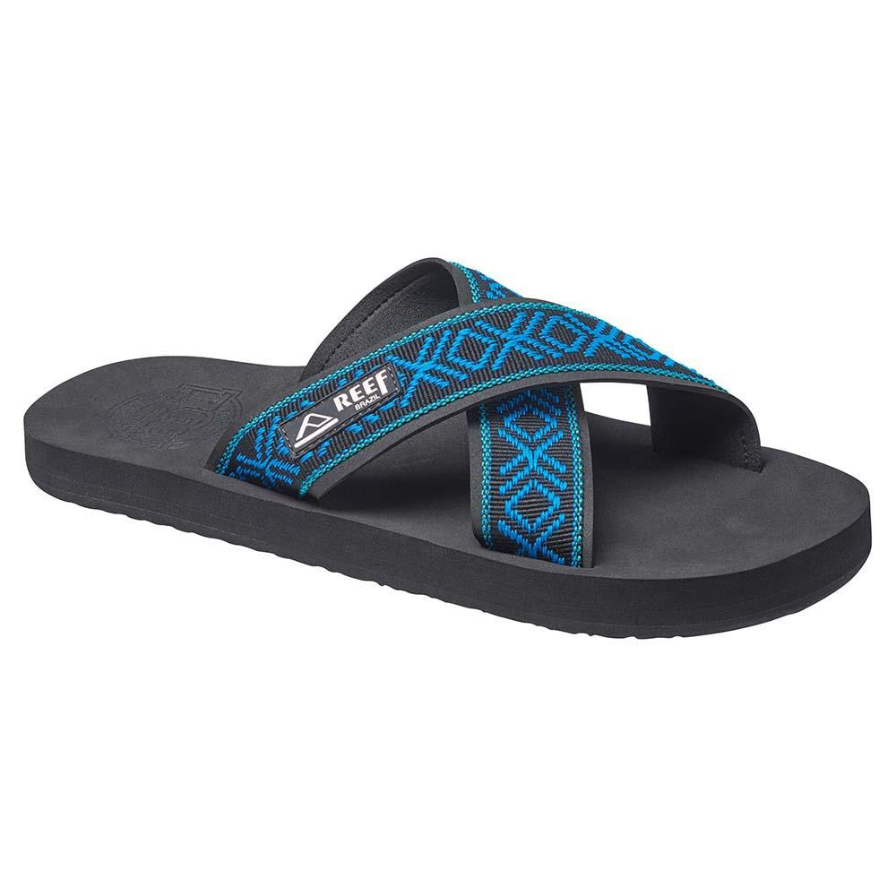 Reef Crossover Black/blue - Chanclas, Hombre, Negro - (negro)