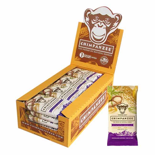 Chimpanzee Energy Bar Crunchy Peanut 55gr Caja 20 Unidades
