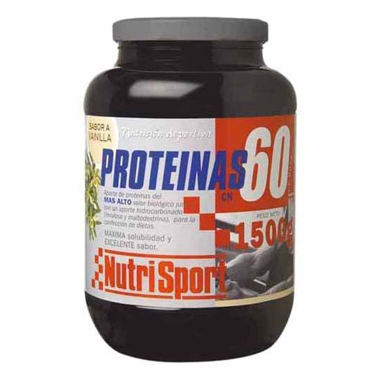 780fa37e5 Nutrisport Protein 60 Vanilla 1.5kg comprar y ofertas en Swiminn