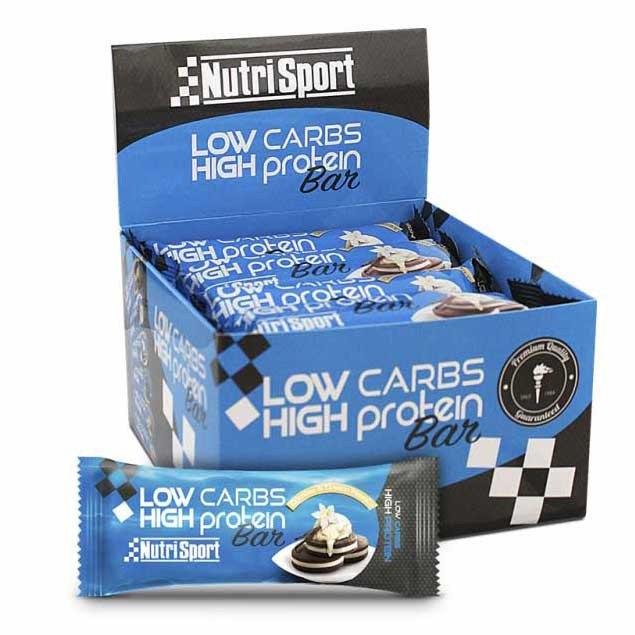 Nutrisport Low Carbs High Protein Bar Galletas Y Crema 16 Unidades