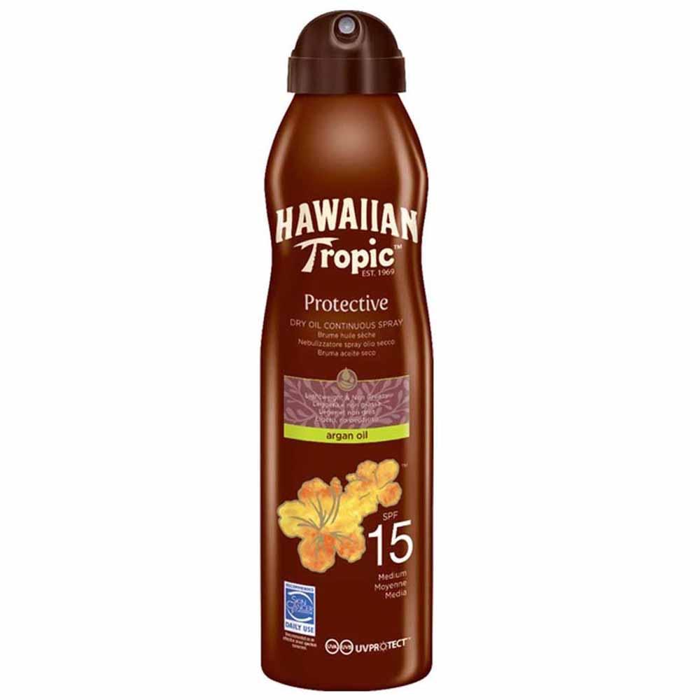 Hawaiian-tropic-fragrances Protective Dry Oil Spray Brume Spf15 177ml