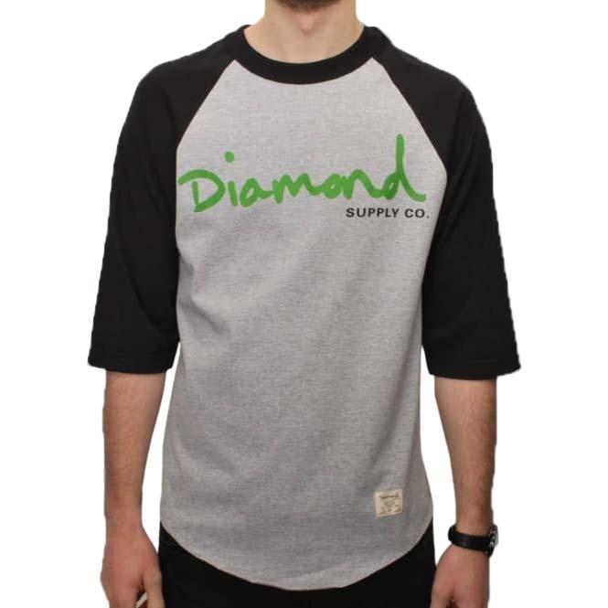 Camisetas manga corta Diamond Og Script Raglan