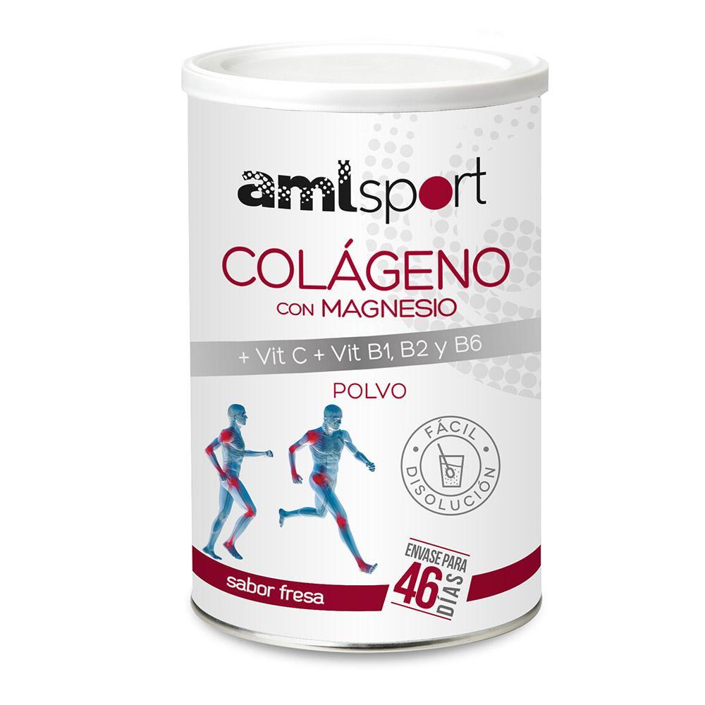 Amlsport Colageno Con Magnesio Vit C + Vit B1 + B2 + B6 Fresa Caja 6 Unidades