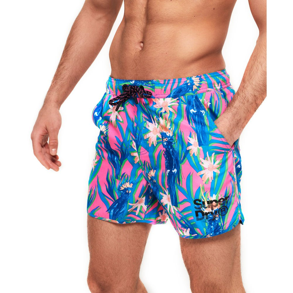 0860d06aa6 Superdry Echo Racer Swim Short Blue buy and offers on Swiminn