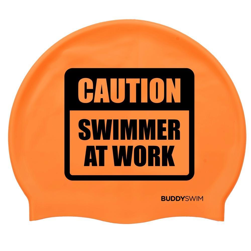 Gorros de nataci?n Buddyswim Caution Swimmer At Work