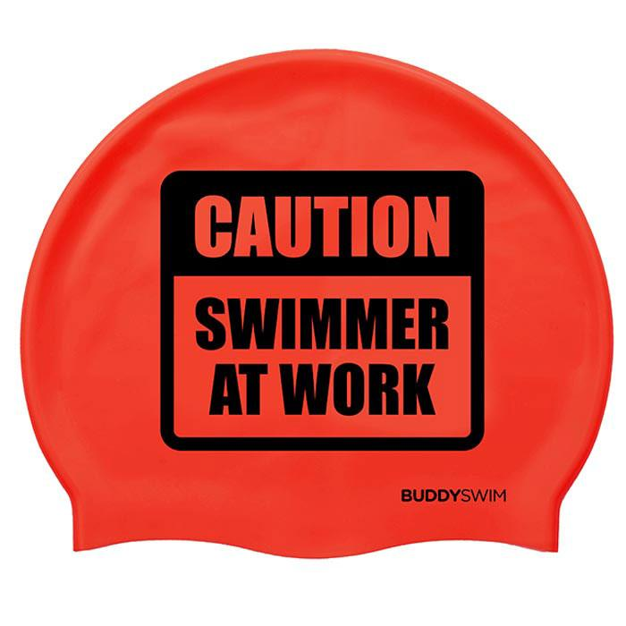 Caution Swimmer At Work Silicona