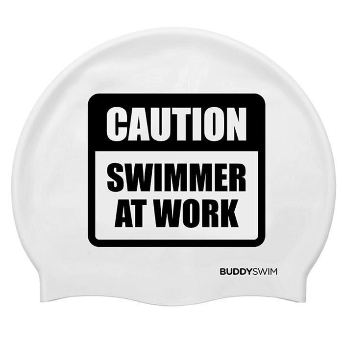 Gorros de nataci?n Buddyswim Caution Swimmer At Work Silicona