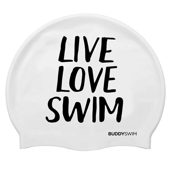 Gorros de nataci?n Buddyswim Live Love Swim Silicona