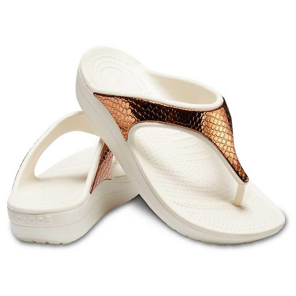 Crocs Sloane Metallic Texture Flip
