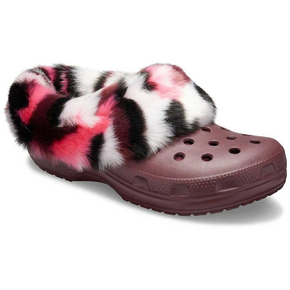 Crocs Classic Mammoth So Luxe Clog 赤