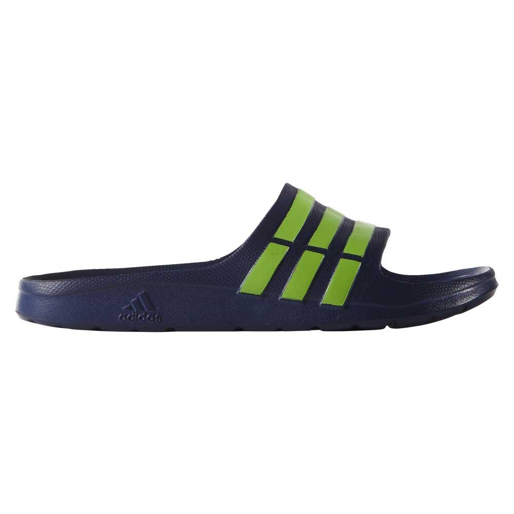 green adidas slides