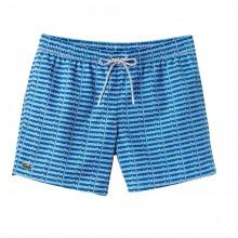 Lacoste Short Cut Lettering Print Swimming Trunks