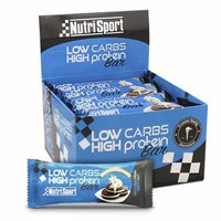 Nutrisport Low Carbs High Protein Bar Galletas y Crema 16 Unidades