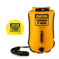 Buddyswim Drybag Caution Swimmer At Work 20L