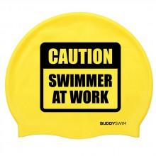 Buddyswim Caution Swimmer At Work