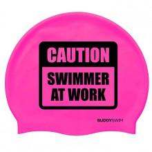 Buddyswim Caution Swimmer At Work Silicona