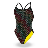 Head swimming Team Printed Thin Strap Hi Leg