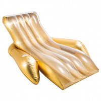 Intex Inflatable Gold Chair With Cup Holder
